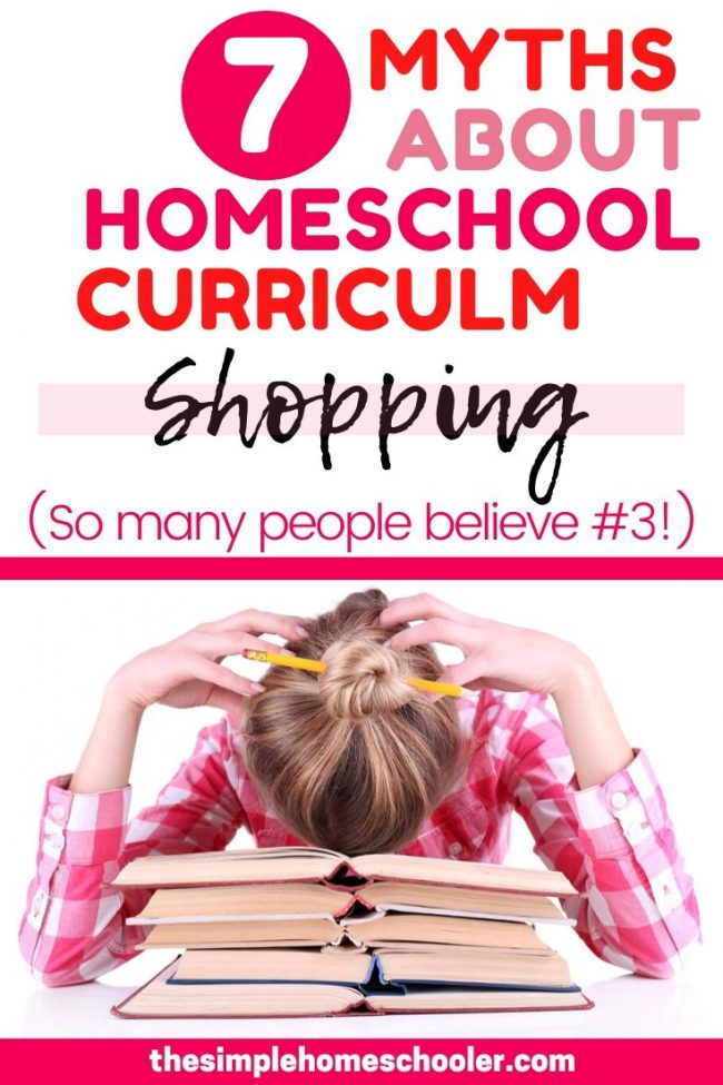 Are you exhausted of shopping for the best homeschool curriculum? Wondering if the free one is good enough? Need some encouragement to spur you through emotional draining process? Check out this post to see if you believe the 7 myths about homeschool curriculum - and see what the truth really is!