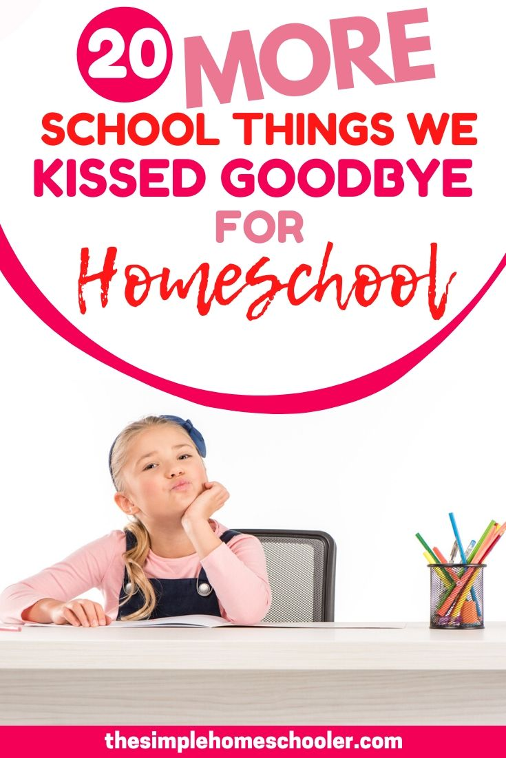 The longer I've been homeschooling, the longer the list of reasons gets to keep homeschooling! I am so thankful that I don't have to deal with all of these public school things anymore!