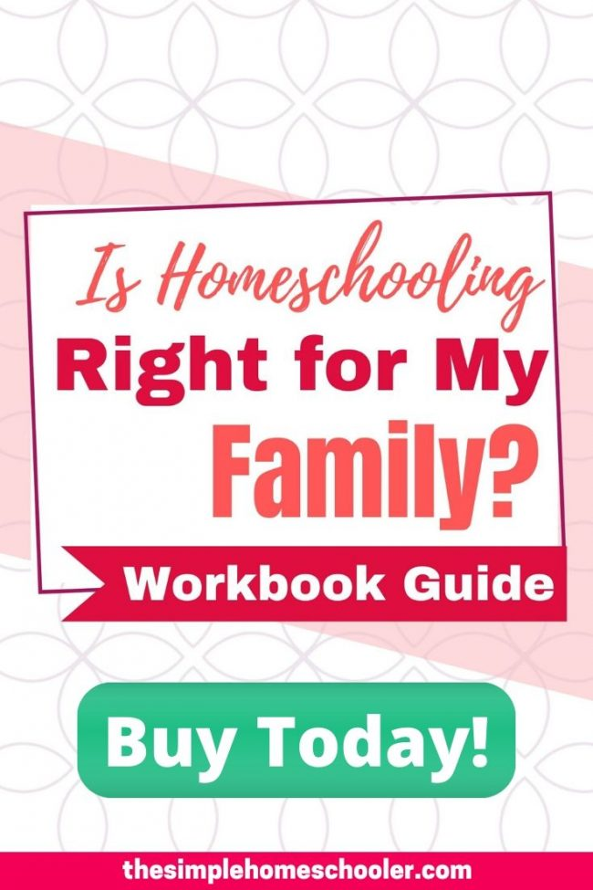 Should you homeschool your kids? Are you terrified to make the wrong decision? There is so much to consider and the stakes are incredibly high - as you know. Check out this downloadable workbook guide and start working through the process of making the best, decision you can about how to educate your kids - whether you homeschool or not. Don't miss the sale price while it lasts!