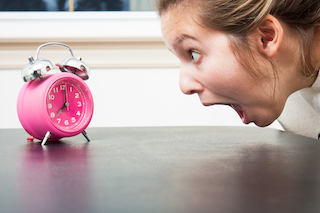 woman running out of time to decide about homeschooling