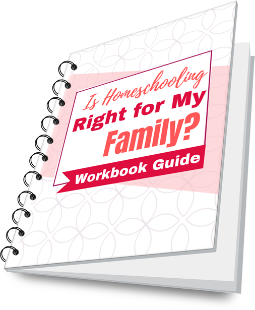 """""""Is Homeschooling Right For My Family?"""" Workbook guide Mockup Cover"""