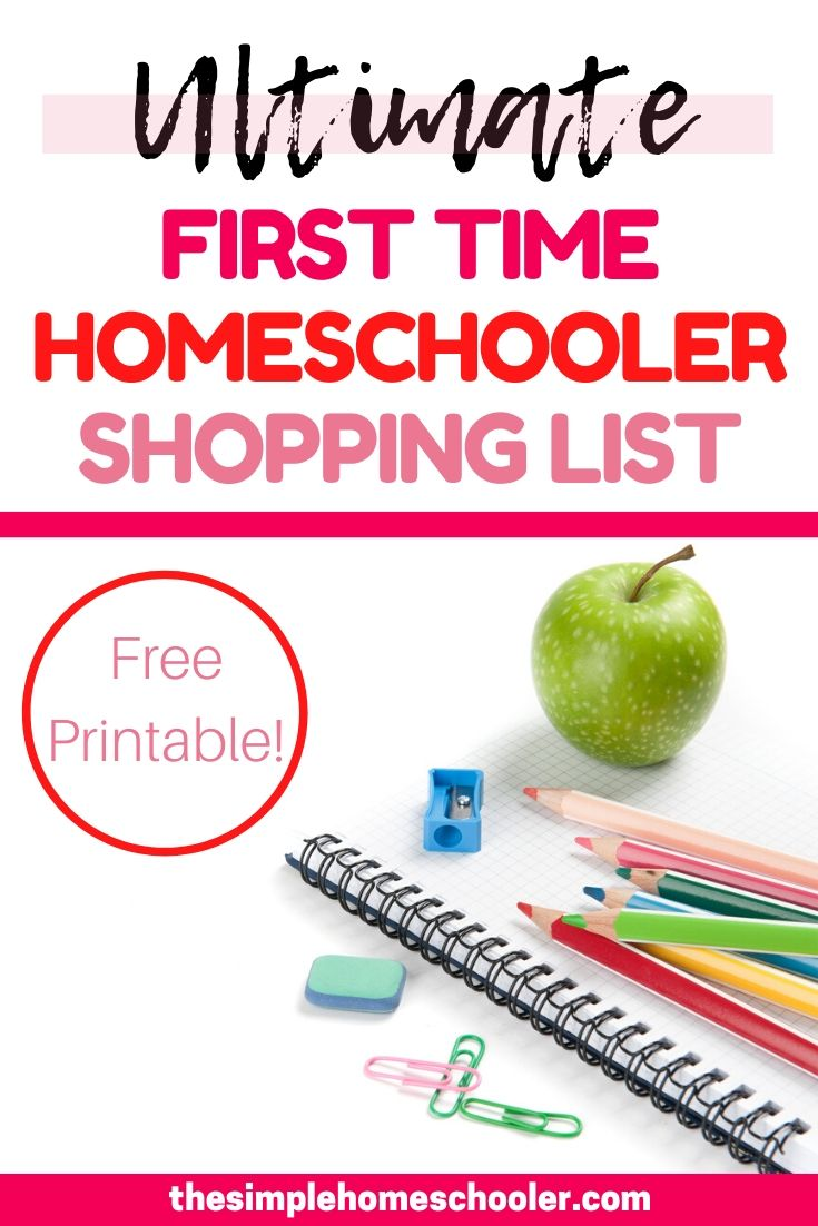 Are you ready to get started with your first year of homeschooling....but not so sure what you need to buy? Check out this homeschool shopping list for all the things you will need to pick up, find out where to shop, and how to save money too! Oh, and don't miss the free printable to make it even easier!