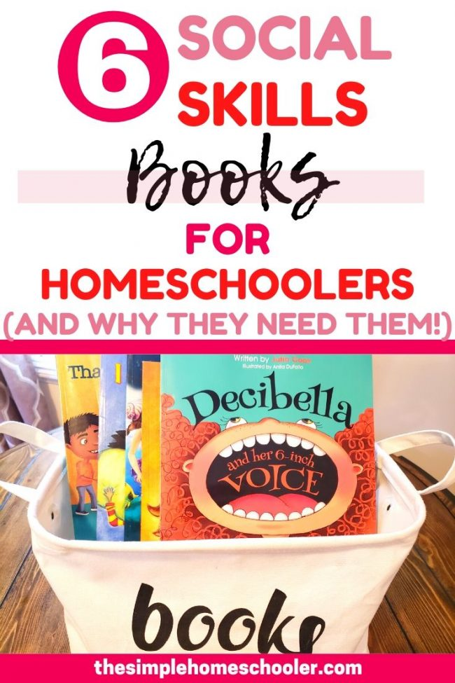 Whether you are worried about socialization or not with your homeschoolers - these 6 books are a great resource to give your kids a pathway to excellence and success when it comes to social situations. Click to read why all kids can benefit from social skills books and which ones our homeschool loves!