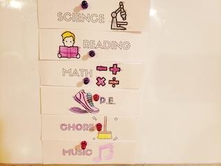 How to homeschool kindergarten routine cards