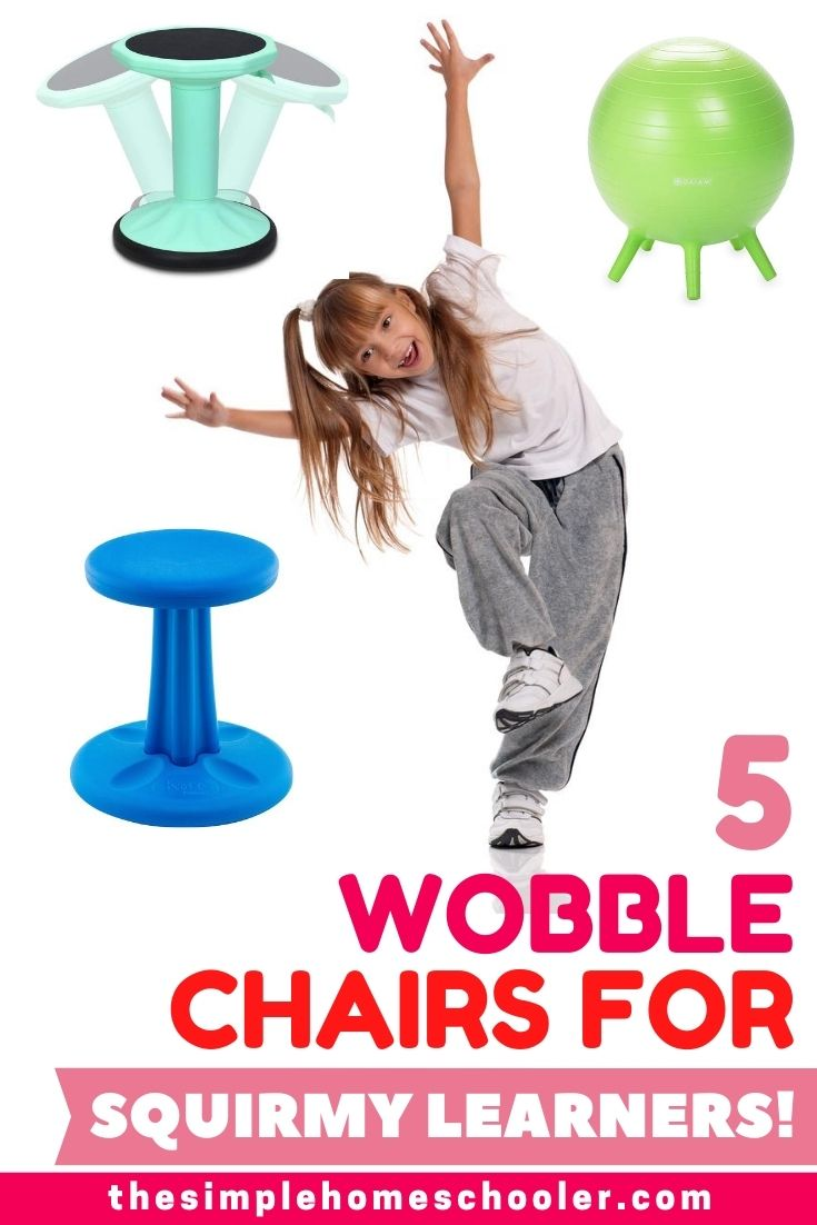 Do you have a squirmy homeschooler, who won't sit still for school work? Tired of telling them to be still or to get back in their chair? You need a wobble chair for your school room! They are such a fun way to help kids burn excess energy, stay focused, and keep you sane!