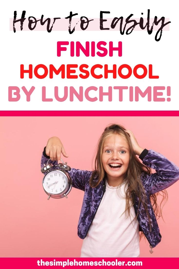 Struggling to fit everything into your homeschool schedule? Wondering how you can get it done with multiple kids? Check out my new homeschool schedule to be done by lunchtime! I have finally cracked the code that gives my 3 kids plenty of time to do all the fun stuff, solid one on one time for core subjects....and still get done by lunch!
