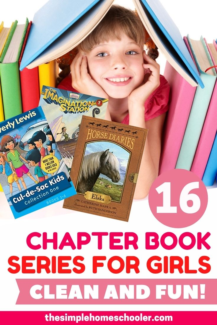 Looking for an exciting chapter book series for your elementary aged girl? Hoping they will be swept away in a flurry of pages and adventure?! But also not wanting them to be reading questionable books that don't support your values? I hear you. Check out these 16 clean chapter book series for elementary aged girls for some great options that will get your daughter reading!