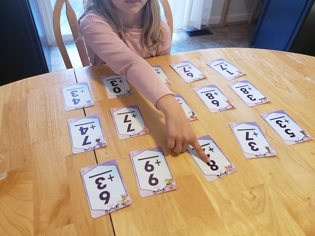 Clear the Table Flashcard Game with homeschool Kid