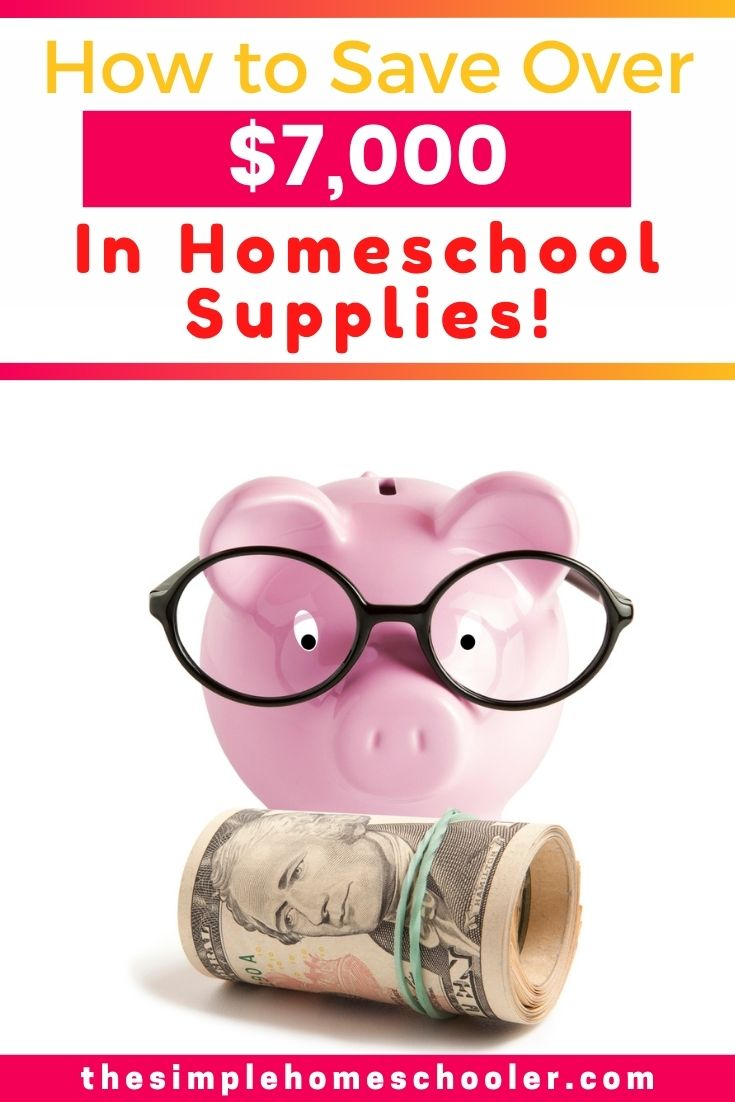 Homeschooling expenses can stack up quickly, so its important to save money on homeschooling supplies wherever you can. Check out how I saved almost $8,000 in homeschool supplies with this easy weekly habit!