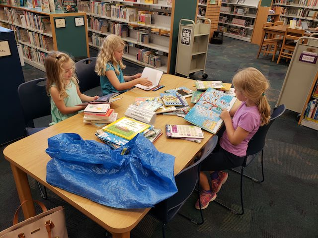 saving money on homeschool supplies at the library