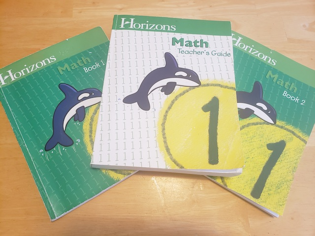 Horizons Math First Grade books for review