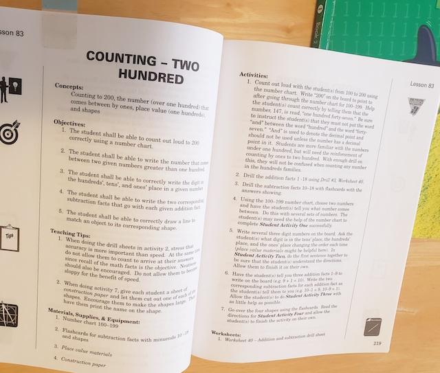 Horizons Math Teachers Manual guide for grade 1