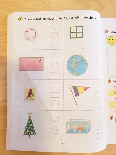 Horizons math Workbook Page grade 1