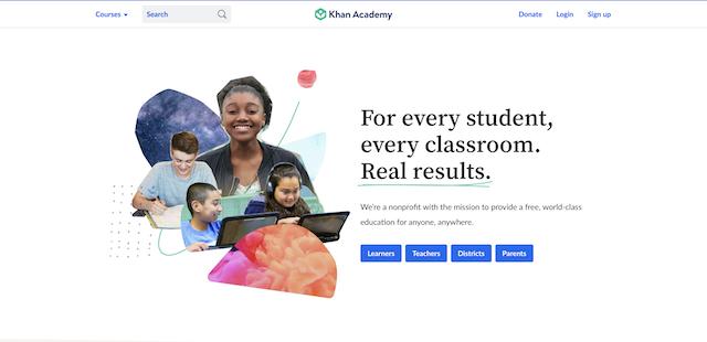 Khan Academy website Free Homeschool math resource