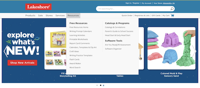Lakeshore Learning free homeschool resources
