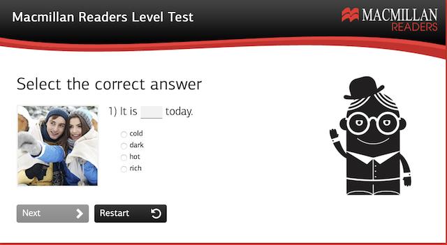 MacMillian Reading Level Test Example