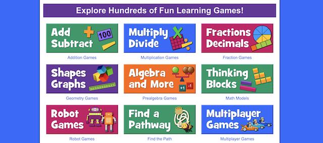 Math playground games free homeschool resource