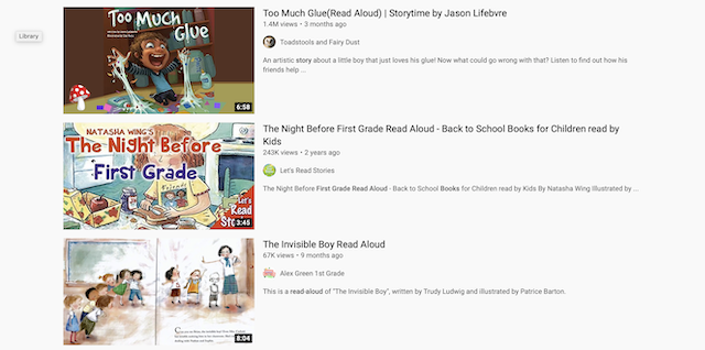 Youtube read aloud books for homeschoolers