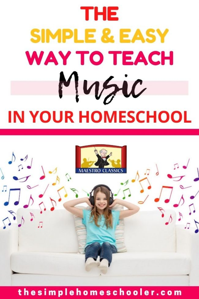 Looking for the perfect music curriculum for your preschool, elementary, or middle school aged homeschooler? This Maestro Classics review is loaded with information about why music is so important, why we use Maestro Classics, what we don't like about Maestro Classics, how to make time to teach music, and even what my kids say about this homeschool curriculum! It is a no prep, no experience needed kind of curriculum that your kids will love!