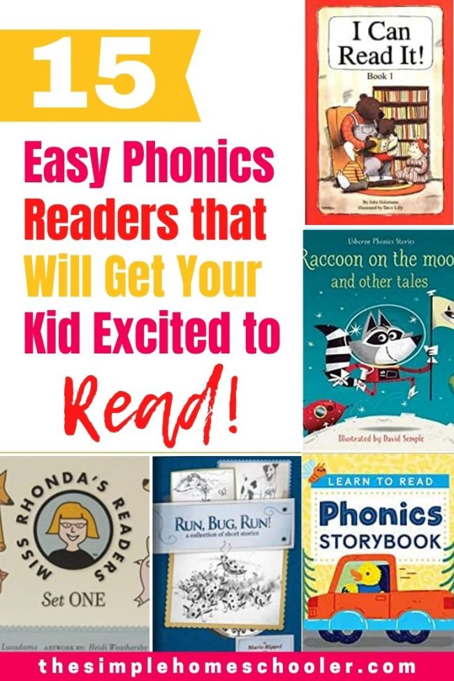 "Looking for books that your young reader can actually read? Tired of the frustrating sea of sight words in all the ""easy readers"" you pick up? That was me until I discovered all the easy PHONICS readers out there! Check out my top 15 books and get your kid excited to read and proud of themselves for finally reading a whole book!"