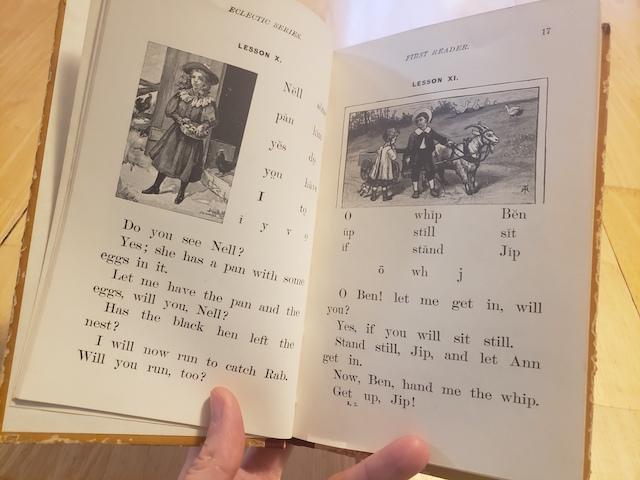 Inside of McGuffey Easy Phonics Reader