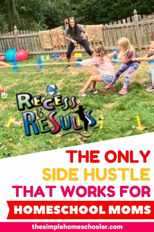 Looking for the best side hustle for homeschool moms? Trying to find a way to make real money from home to make your homeschool budget work? But you don't want to sign for *another* MLM that will fall flat?Find out why Recess & Results is by far the best side hustle out there - you can make money while you homeschool!