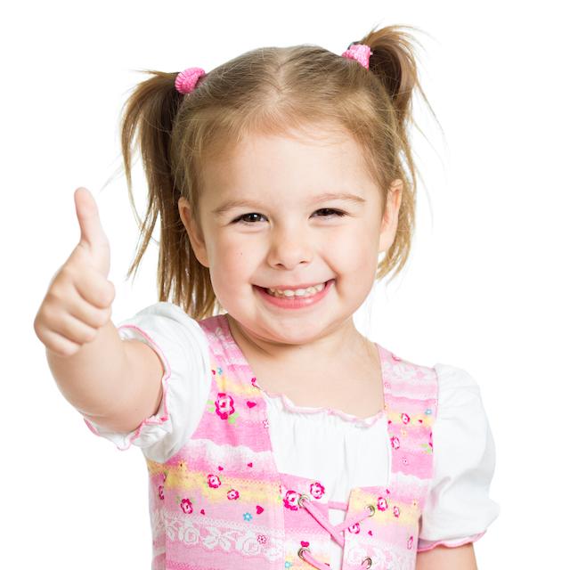 Happy homeschool preschool kid